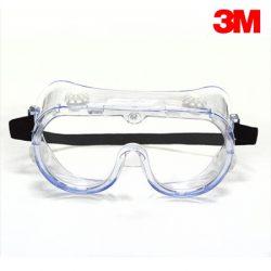3M 보안경 (334 고글형) 충격방지용 통기식 코팅렌즈 화학물질 튐방지용